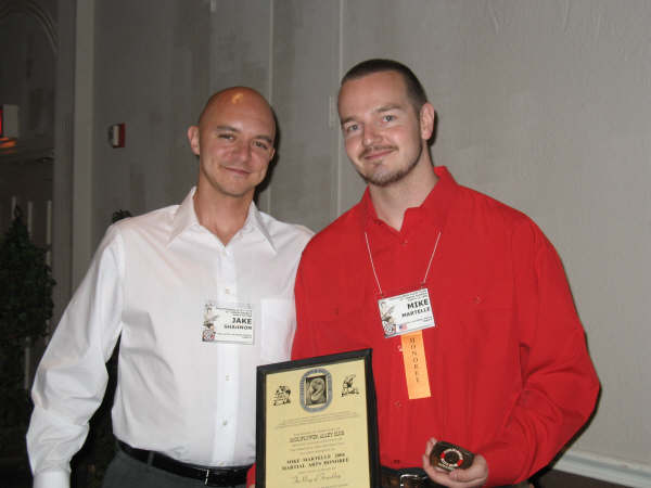 Jake Shannon and 2006 CAC Martial Artisit Honoree Mike Martelle