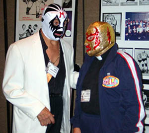 Mil Mascaras and Fray Tormenta (The real Nacho Libre)