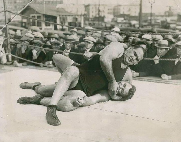 Ed Strangler- Lewis' challenge to boxing champ Jack Dempsey set off an avalanche of mixed style matches