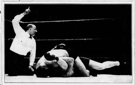 Ray Steele defeated boxer Kingfish Levinsky in a 1935 mixed match. After absorbing Levinsky's initial fistic assault, the wrestler took him down, locked him up and pinned him-in 35 seconds.