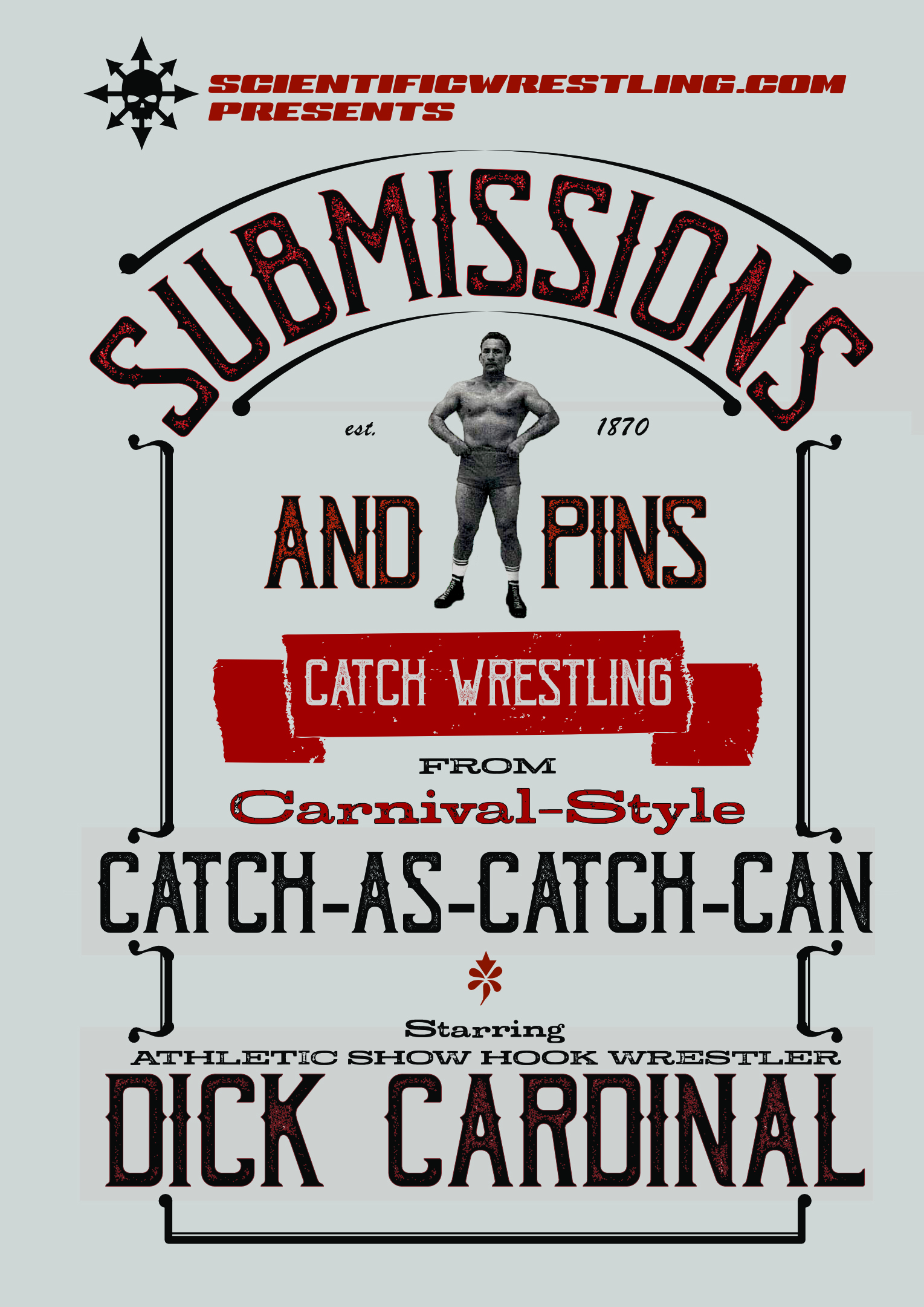 Submissions and Pins From Carnival-Style Catch Wrestling