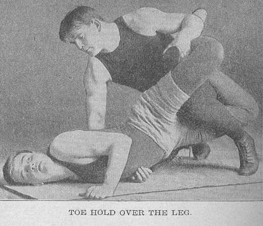 Over The Leg Toe-Hold - Frank Gotch